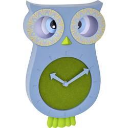 Quartz nástenné hodiny TFA Dostmann WILLY 60.3052.06, modrozelená
