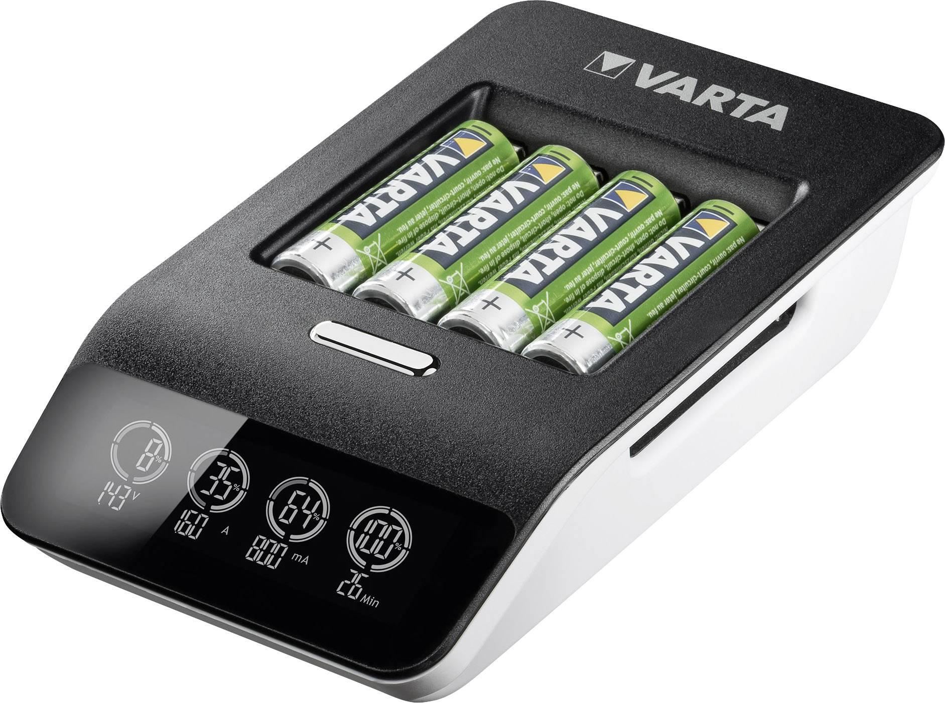 Mignon Varta LCD-Lader Rundzellen-Ladegerät NiMH inkl AA AAA Akkus Micro