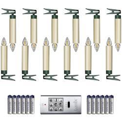 LED bezdrôtové osvetlenie vianočného stromčeka Krinner SuperLight Starter-Set, vonkajšie/vnútroné 77122, na batérie, N/A