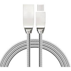 Kábel pre mobilný telefón Felixx Premium DC-MET-TC, [1x USB - 1x USB-C ™ zástrčka], 1.00 m