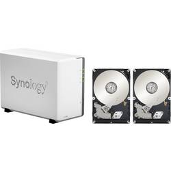 NAS server Synology DiskStation DS220j DS220J 8TB RED, 8 TB, vybavený 2x 4TB WD RED