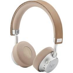 Bluetooth, káblové náhlavná sada On Ear Stereo HER HF8 41-10001, béžová, strieborná