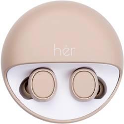 Bluetooth náhlavná sada In Ear Stereo HER HX-12 41-10002, béžová