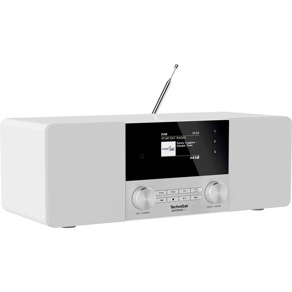 TechniSat DIGITRADIO 4C Tafelradio DAB+, FM, DAB Bluetooth Wit