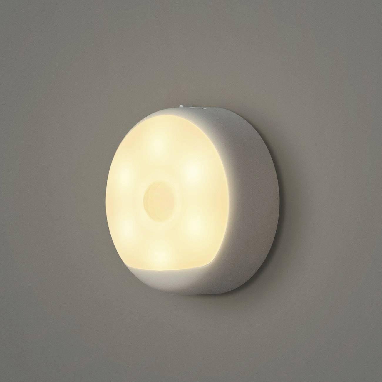 Yeelight YLYD01YL YLYD013DE Nachtlicht mit Bewegungsmelder Rund LED Warmweiß Weiß