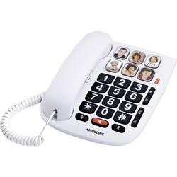 Image of Audioline Tmax 10 Schnurgebundenes Telefon, analog Freisprechen Weiß