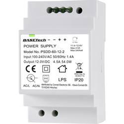 Sieťový zdroj na montážnu lištu (DIN lištu) Basetech PSDD-60-12-2, 2 x, 12 V, 4.5 A, 54 W