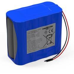 Akupack - sada nabíjacích batérií Li-Ion akumulátor 8 18650 s káblom Ansmann 2447-3035-03 , 5200 mAh, 14.4 V