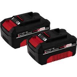 Náhradný akumulátor pre elektrické náradie, Einhell PXC-Twinpack 4 Ah Power X-Change 4511489, 18 V, 4.0 Ah, Li-Ion akumulátor