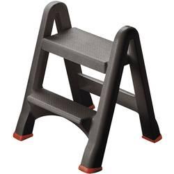 Sklopné schodíky Curver 155160, 3.22 kg, antracitová, červená