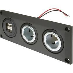 ProCar Vstavaná zásuvka s dvojitou zásuvkou USB-A + 2 zásuvky Prúdová zaťažiteľnosť (max.)=20 A