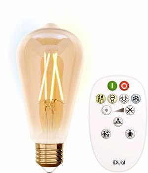 2XMULTI Farbwechselnde LED CANDLE Glühbirne E14 RGB-SCHRAUBE IN FERNBEDIENUNG A+