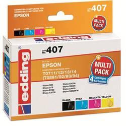 Kompatibilná náplň do tlačiarne Edding EDD-407 18-407, čierna, zelenomodrá, purpurová, žltá