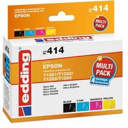 Kompatibilná náplň do tlačiarne Edding EDD-414 18-414, čierna, zelenomodrá, purpurová, žltá