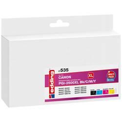 Kompatibilná náplň do tlačiarne Edding EDD-535 18-535, čierna, zelenomodrá, purpurová, žltá