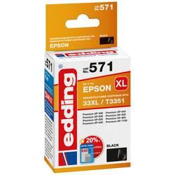 Kompatibilná náplň do tlačiarne Edding EDD-571 18-571, čierna
