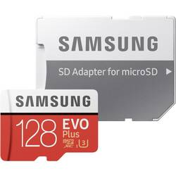 Pamäťová karta micro SDXC, 128 GB, Samsung EVO Plus, Class 10, UHS-I, UHS-Class 3, vr. SD adaptéru