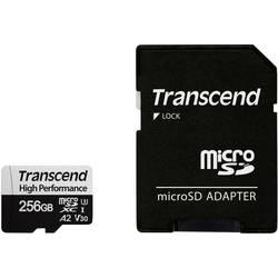Pamäťová karta micro SDXC, 256 GB, Transcend 330S, Class 10, UHS-I, UHS-Class 3, v30 Video Speed Class, výkonnostný štandard A2, vr. SD adaptéru