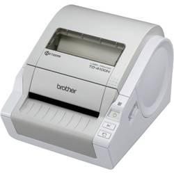 Tlačiareň štítkov termálna s priamou tlačou Brother TD-4100N, Šírka etikety (max.): 102 mm, USB, RS-232, LAN
