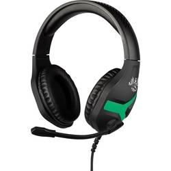 Konix NEMESIS herný headset stereo, káblový na ušiach čierna / zelená