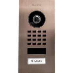 Wi-Fi domové IP / video telefón DoorBird DoorBird IP Video Türstation D1101V Unterputz 423867444, bronz