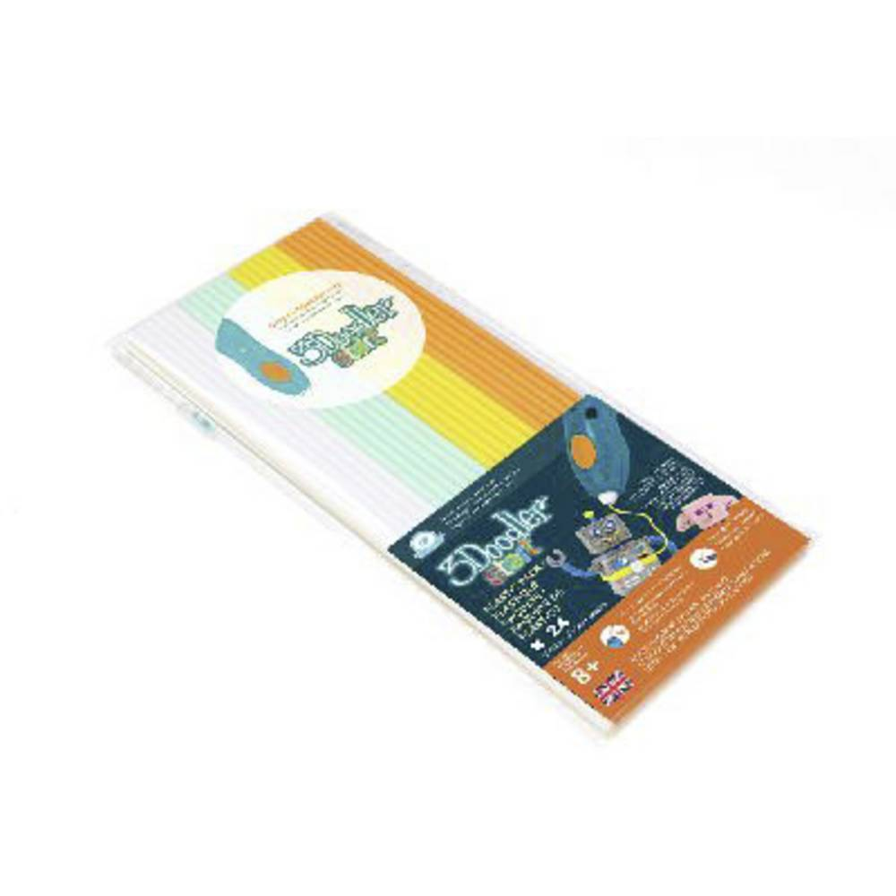3Doodler 3DS-ECO-MIX1-24 Fire & Ice Filamentpaket Elastisk 1.75 mm 27 g Vit, Mint, Gul, Orange 24 st