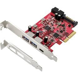 PCIe x4 kontrolná karta USB 3.1 Renkforce RF-4541492, 1 + 4 porty