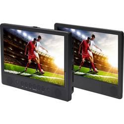 DVD prehrávač do opierok hlavy, 2x LCD Denver MTW-1086