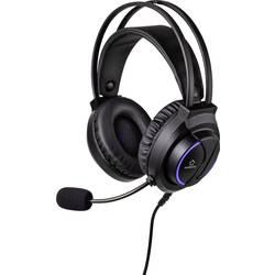 Renkforce RF-GHD-200 herný headset jack 3,5 mm káblový cez uši čierna