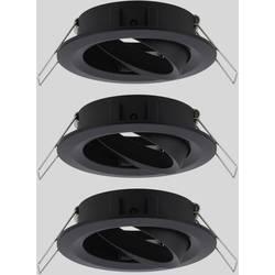 Zabudovateľný krúžok - Paulmann EBL Choose 92487 10 W, sada 3 ks, čierna