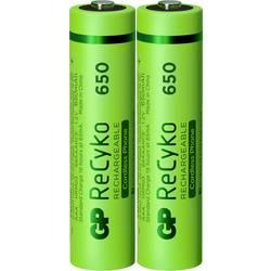 Mikrotužkový akumulátor typu AAA Ni-MH GP Batteries ReCyko+ DECT Phone HR03 12065AAAHCE-C2, 650 mAh, 1.2 V, 2 ks