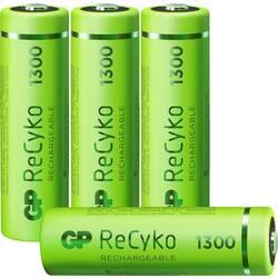 Tužkový akumulátor typu AA Ni-MH GP Batteries ReCyko+ HR06 120130AAHCE-C4, 1300 mAh, 1.2 V, 4 ks