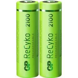 Tužkový akumulátor typu AA Ni-MH GP Batteries ReCyko+ HR06 120210AAHCE-C2, 2100 mAh, 1.2 V, 2 ks