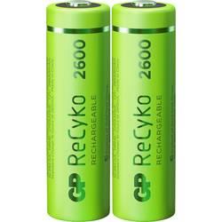 Tužkový akumulátor typu AA Ni-MH GP Batteries ReCyko+ HR06 120270AAHCE-C2, 2600 mAh, 1.2 V, 2 ks