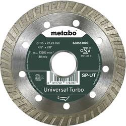 Metabo Dia-TS115x22,23 mm, SP-UT, univerzálne turbo Metabo 628551000, Priemer 115 mm, 1 ks