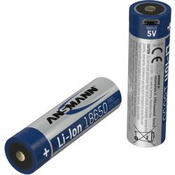 Image of Ansmann 18650-2,6-Micro-USB Spezial-Akku 18650 Li-Ion 3.7 V 2600 mAh