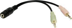4-polig InLine® Slim Audio Spiralkabel Klinke 3,5mm ST//ST 1m Stereo