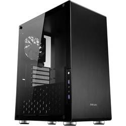 PC skrinka, herné puzdro midi tower Jonsbo U4 BLACK, čierna