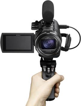 Sony FDR AX43 Camcorder mit Griff.