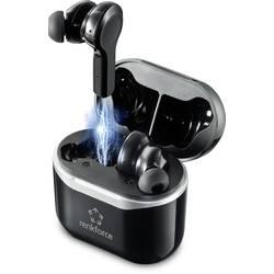 Bluetooth cestovné stereo slúchadlá s mikrofónom Renkforce RF-NCE-500 RF-4599066, čierna