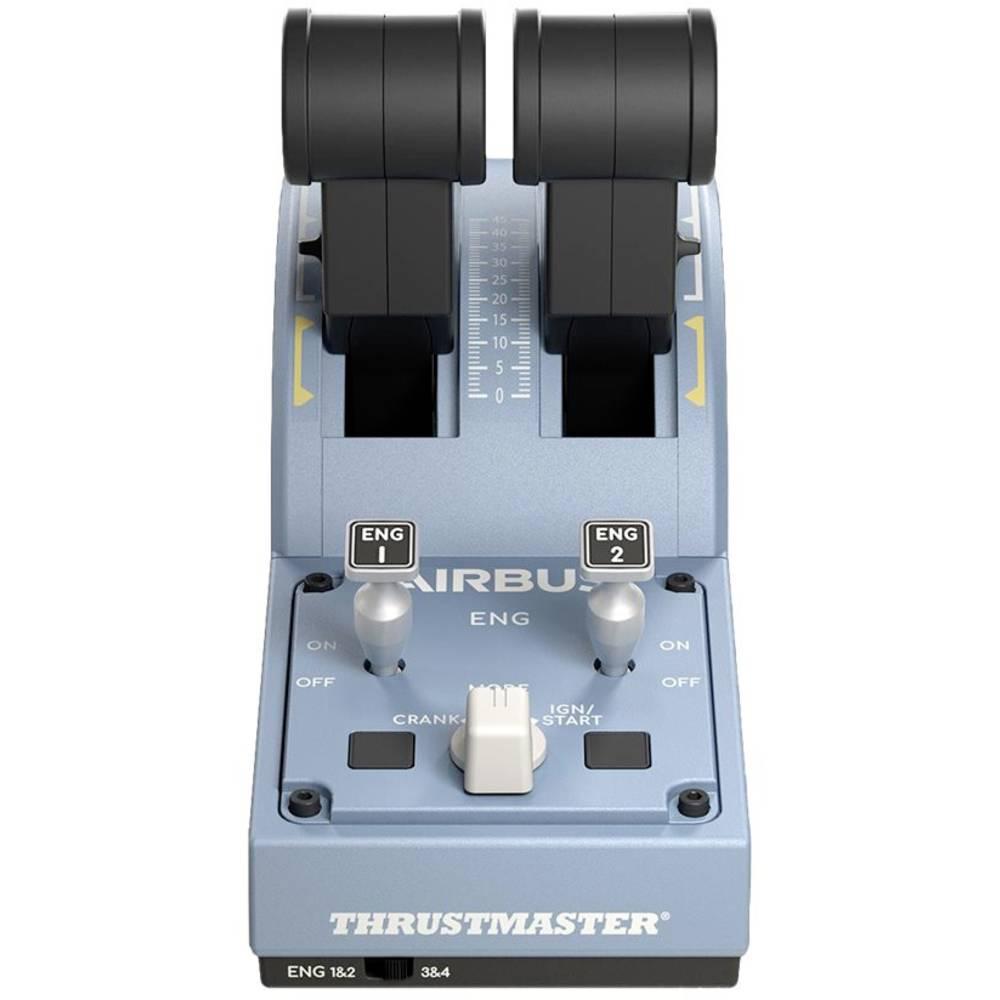 Thrustmaster TCA Quadrant Airbus Edition Vliegsimulator-controller USB PC Blauw, Zwart
