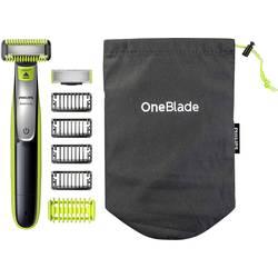 Presný zastrihávač, zastrihávač fúzov, holiaci strojček na tvár Philips OneBlade QP2630/30, omývateľný, čierna, zelená, strieborná