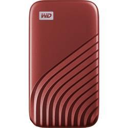"""Externý SSD pevný disk 6,35 cm (2,5"""") WD My Passport, 500 GB, USB-C™, červená"""