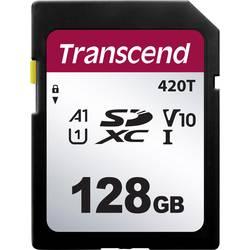 Pamäťová SD karta, 128 GB, Transcend TS128GSDC420T, v30 Video Speed Class