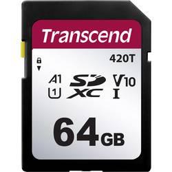 Pamäťová SD karta, 64 GB, Transcend TS64GSDC420T, v30 Video Speed Class