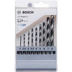 Sada špirálových vrtákov Bosch Accessories PointTeQ 2607002826, 9-dielna