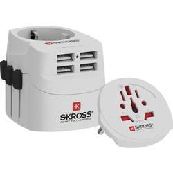 Cestovný adaptér Skross PRO Light USB (4xA) - World 1302471