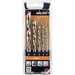 Sada špirálových vrtákov do dreva Alpen PCTM5 0063300005100, 4 mm, 5 mm, 6 mm, 8 mm, 10 mm, 1 ks
