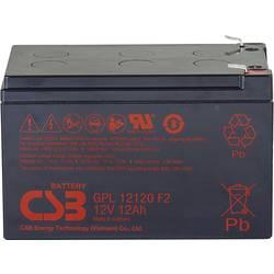 Olovený akumulátor CSB Battery GPL 12120 GPL12120F2, 12 Ah, 12 V