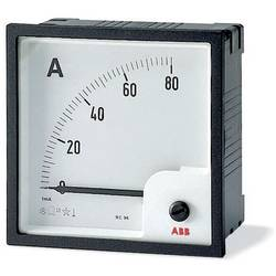 Image of ABB AMT1-A1-60/96 Analoges Einbaumessgerät AMT1-A1-60/96 Amperemeter analog Direktmessung, 60A, Wechselstrom, 96mm